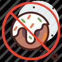 belief, cookie, cultures, muslim, no, ramadan, religion icon