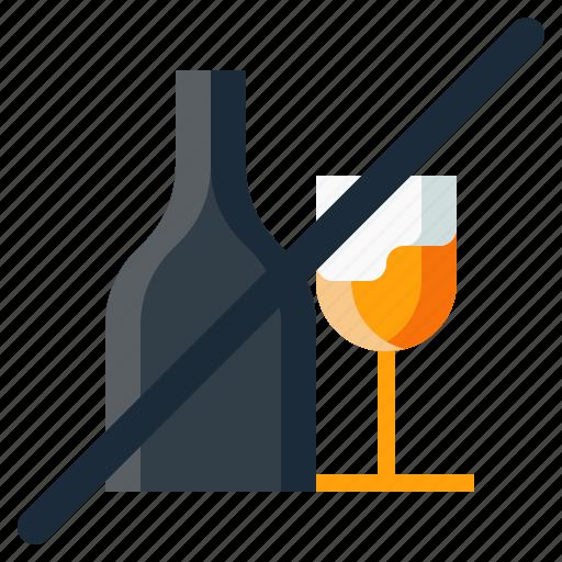 Alcohol, drunk, forbidden, haram, no icon - Download on Iconfinder