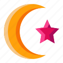 light, moon, night, star icon