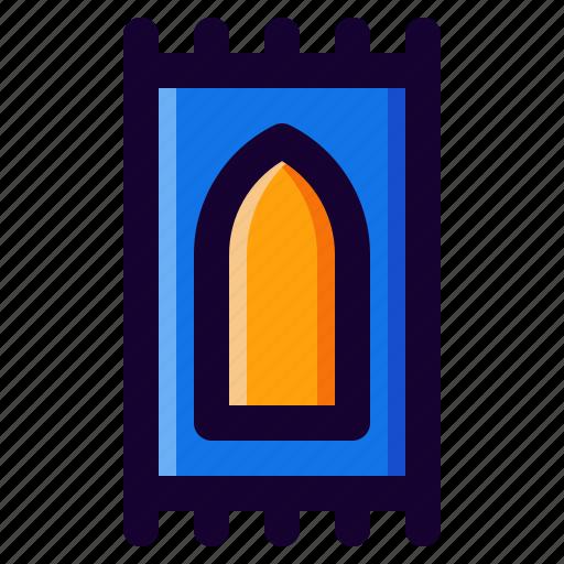 carpet, muslim, praying, sajadah, shalat icon