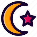 light, moon, night, star