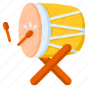 drum, traditional, culture, religion, festival, celebration, bedug icon
