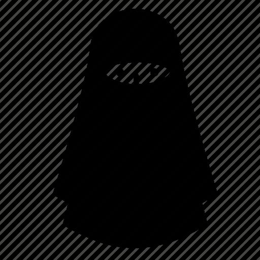 costume, islamic veil, muslim, niqab, scarf, woman icon