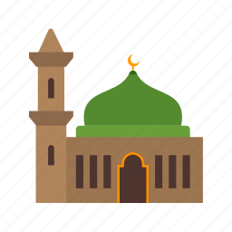 azan, building, islam, mosque, muslim, quran, religion icon