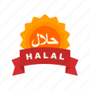 food, halal, islamic, marketing, muslim, products, sticker icon