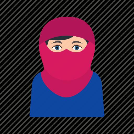 abaya, arab, burka, muslim, niqab, traditional, women icon