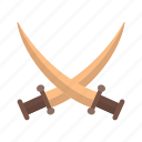 battle, old, shield, sword, swords, two, warrior icon