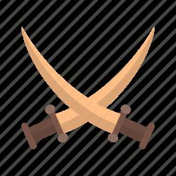 battle, old, shield, sword, swords, two, warrior icon