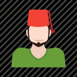 arab, arabic, culture, hat, islamic, man, turkish icon