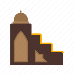 architecture, mimbar, mosque, muslim, prayer, ramadan, wood icon