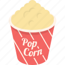 cinema, corn, entertainment, food, movie, popcorn, sweet icon