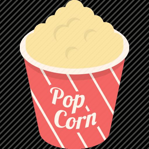 cinema, corn, entertainment, food, movie, popcorn, sweet icon
