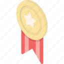 achievement, award, medal, reward, star, success, trophy icon