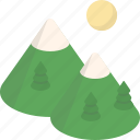 mountain, outdoor, camping, travel, vacation, holiday, tourism icon