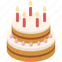bakery, birthday, cake, cream, dessert, party, sweet icon