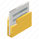 archive, binder, document, file, folder icon