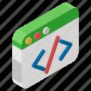 html coding, software development, web coding, web development, web programming icon