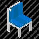 armless chair, chair, cushion chair, dining chair, dining furniture icon