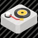 gramophone, music player, recorder, retro vinyl, turntable icon