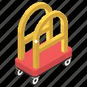 baggage trolley, bellhop, hotel bellhop, hotel service, luggage trolley icon