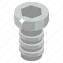 bolt, nut, nut and bolt, screw, tools icon