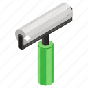 art roller, color roll, paint tool, painting, paintroll icon