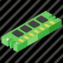 computer hardware, computer memory, ram, random access memory, storage device icon