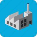 building, city, isometric, house, factory, town, village