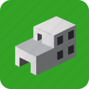 building, city, factory, house, isometric, town, village icon