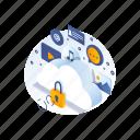 cloud, data, safe, storage icon