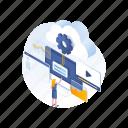 business, cloud, computing, data icon