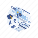 education, online, learning, learn, tutorials icon