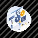 analysis, data, development, seo, tag icon
