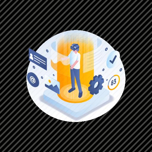 business, reality, technology, virtual icon