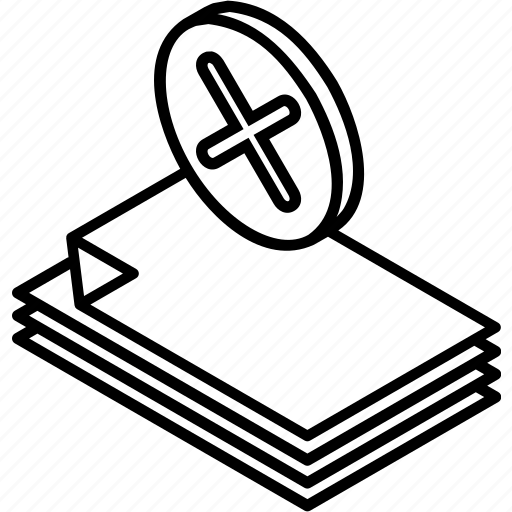 delete, delete document, document, file, isometric, office, remove document icon