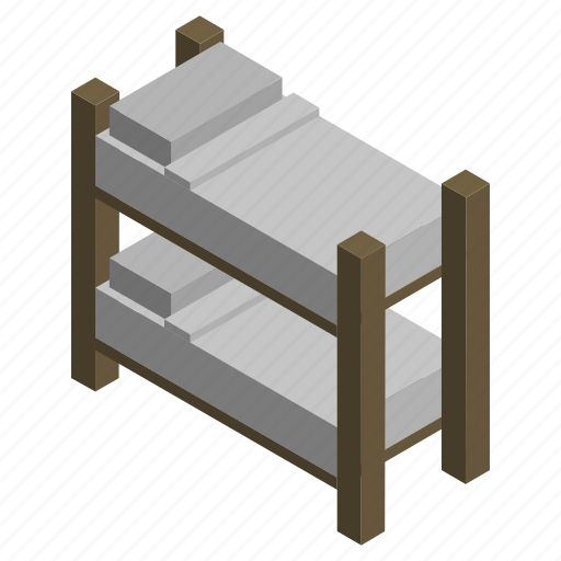 bed, bunk, couch, furniture, interior, mattress, room icon