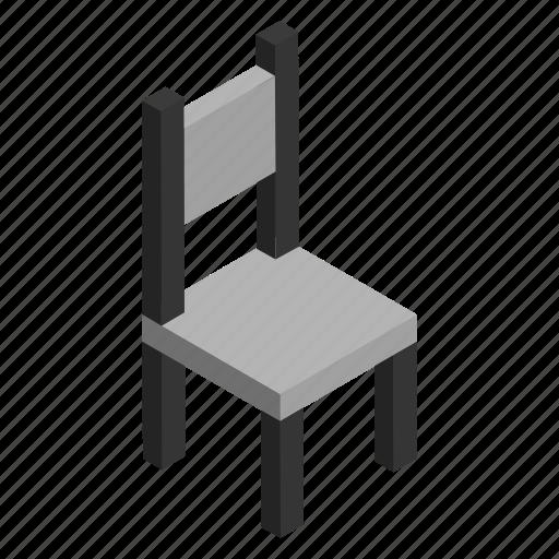 bench, chair, interior, metal, modern, seat, seating icon