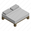 bed, double, interior, king, mattress, queen, sleep icon