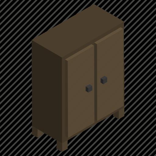cabinet, closet, furniture, interior, storage, wardrobe, wooden icon