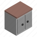 cabinet, cupboard, furniture, interior, kitchen, storage icon