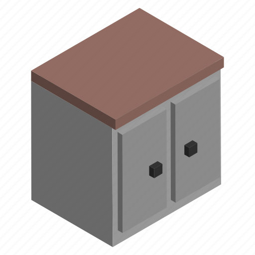 cabinet, cupboard, furniture, interior, kitchen, storage icon