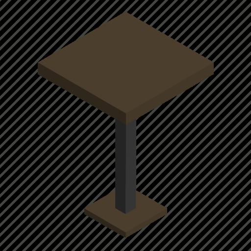 counter, desk, interior, small, stand, table, wood icon