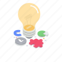 business idea, creative idea, creative solution, idea inspiration, innovative idea icon