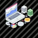 online data, online graph, performance analytics, search data, web analytics icon
