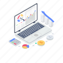 data analysis, finance marketing, online data, online graph, performance analytics, web analytics icon