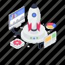 rocket launch, space shuttle, spacecraft, spaceship, startup icon