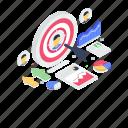 bullseye, dartboard, objective, sports, target audience, target board icon
