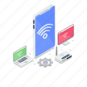 mobile data, mobile internet, online network, smartphone internet, wireless network icon