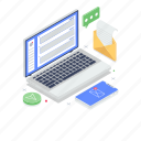 api interface, app development, communication service, email marketing, online email icon