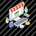 digital shopping, ecommerce, eshopping, internet shopping, online shopping, shopping website, webshop icon